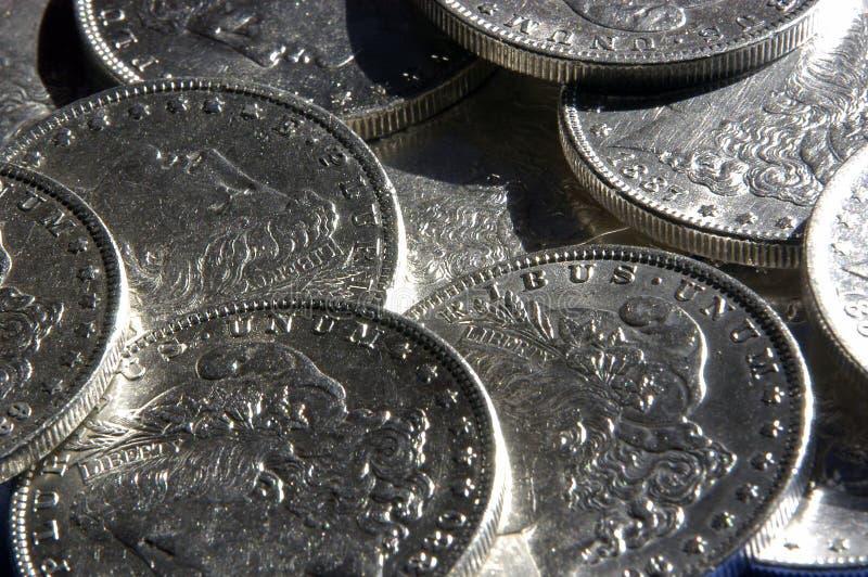 Zilveren Dollars stock foto's