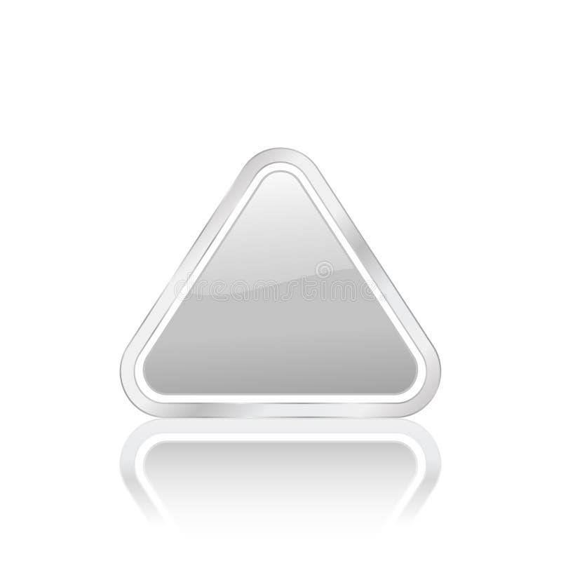 Zilveren driehoekspictogram 2 vector illustratie