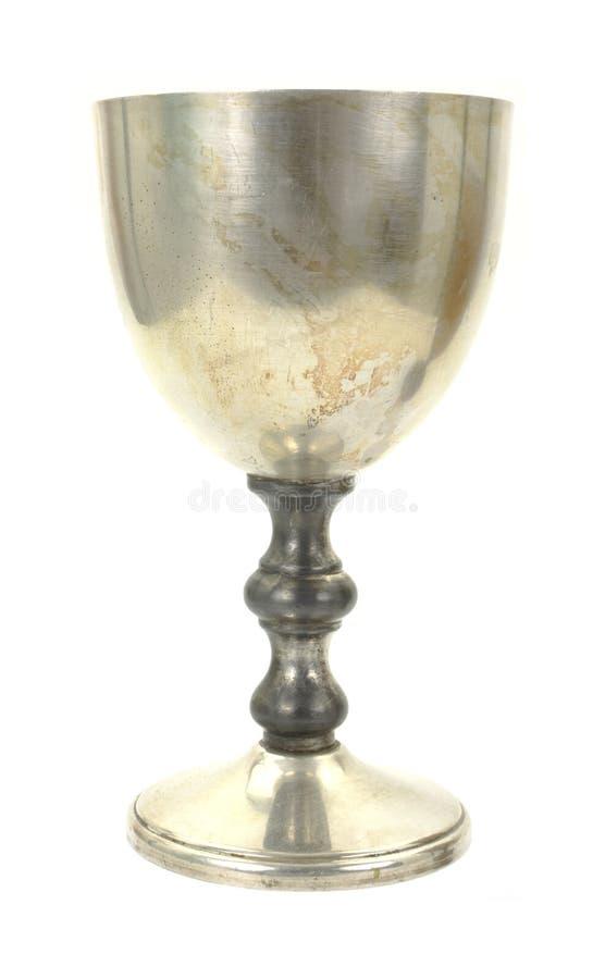 Zilveren drinkbekerprofiel royalty-vrije stock foto's