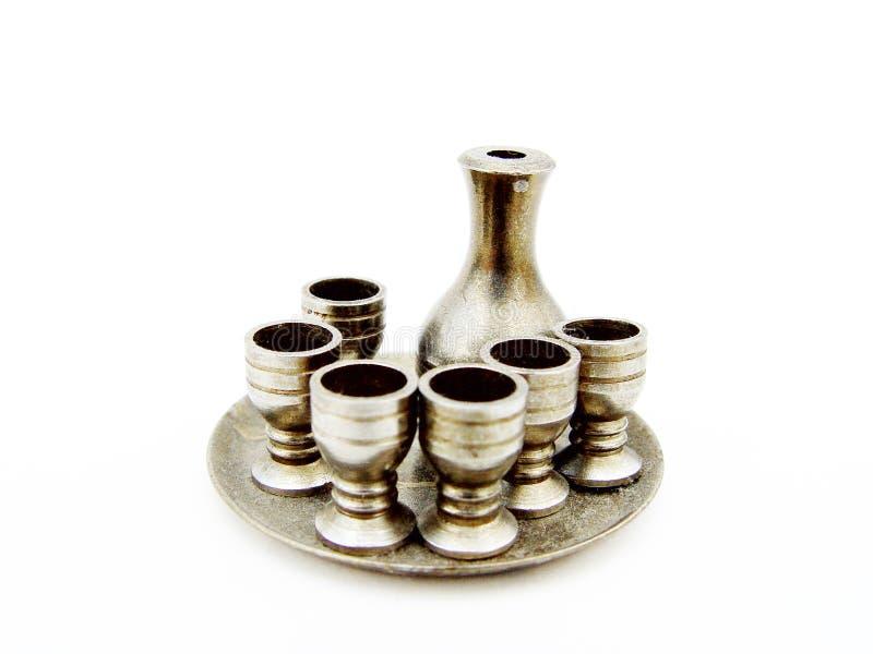 Zilveren Drinkbekers Stock Foto's