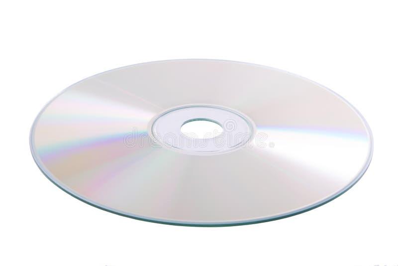 Zilveren DVD die op wit wordt geïsoleerdl stock afbeeldingen
