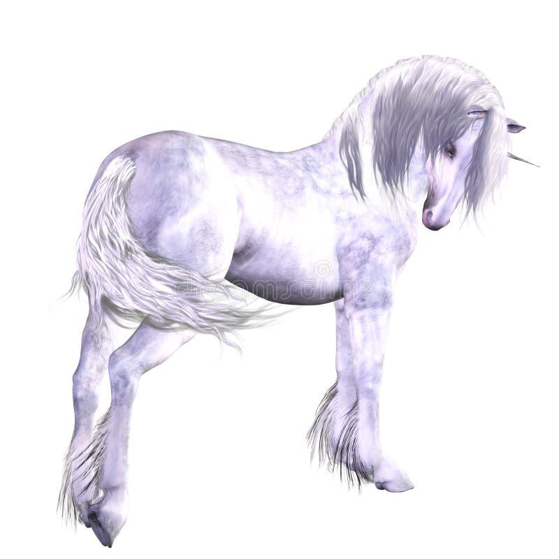 Zilveren eenhoorn royalty-vrije illustratie