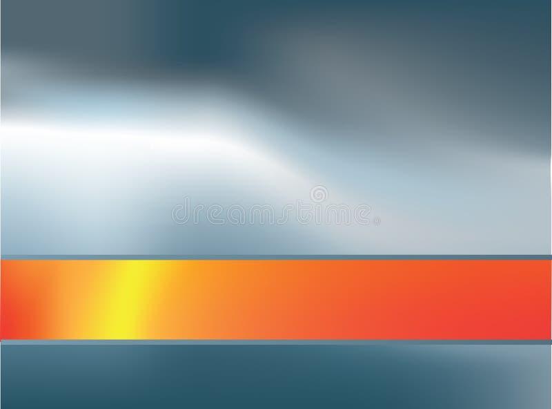 Zilveren en oranje achtergrond 4 vector illustratie