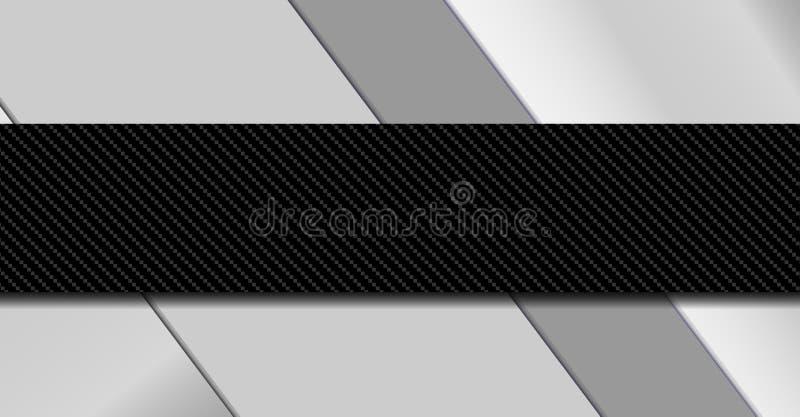 Zilveren en zwarte metaalachtergrond Materiële ontwerp vectorillustratie EPS10 stock illustratie