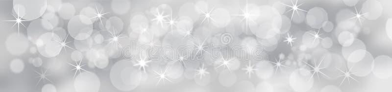 Zilveren Feestelijke Achtergrond royalty-vrije illustratie