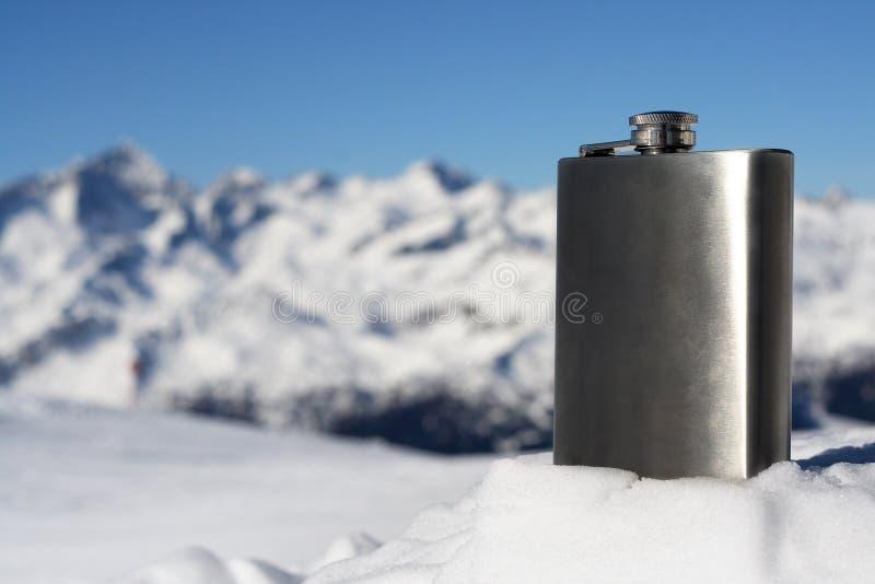 Zilveren fles stock fotografie