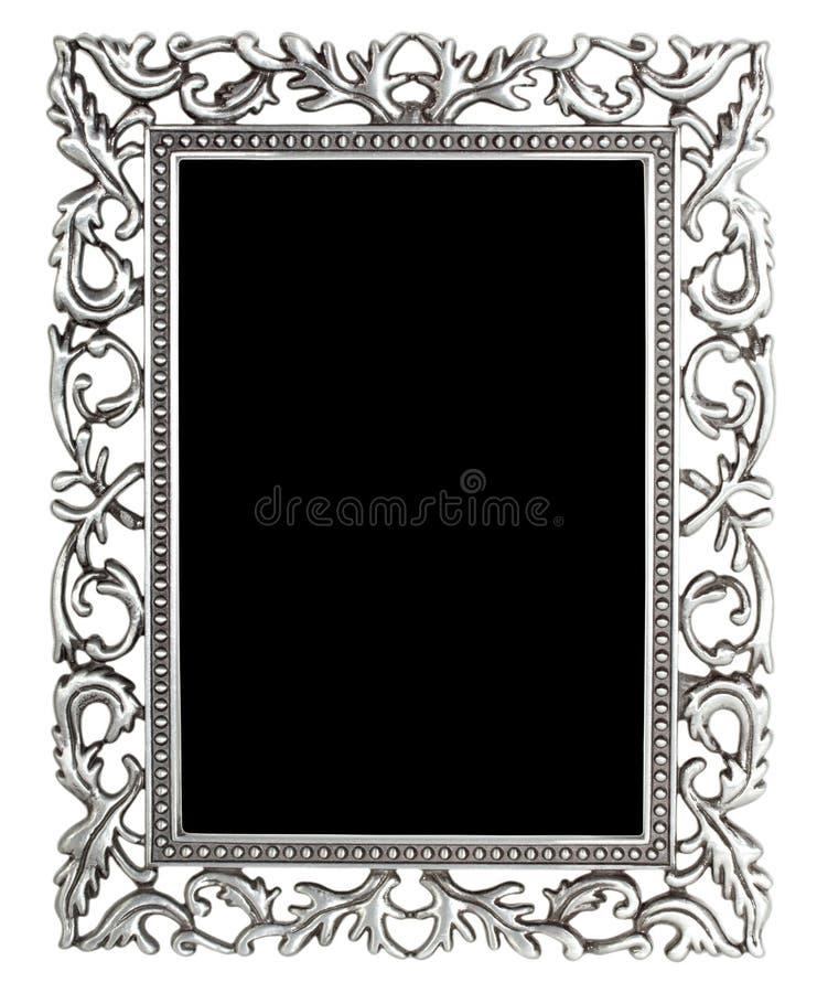 Zilveren frame stock afbeelding