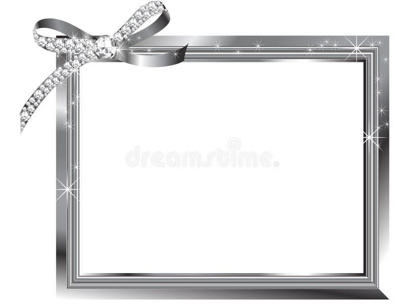 Zilveren frame royalty-vrije illustratie