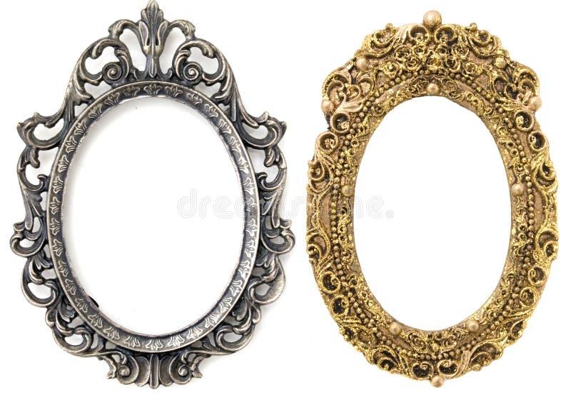Zilveren Frame, Gouden Frame stock foto's