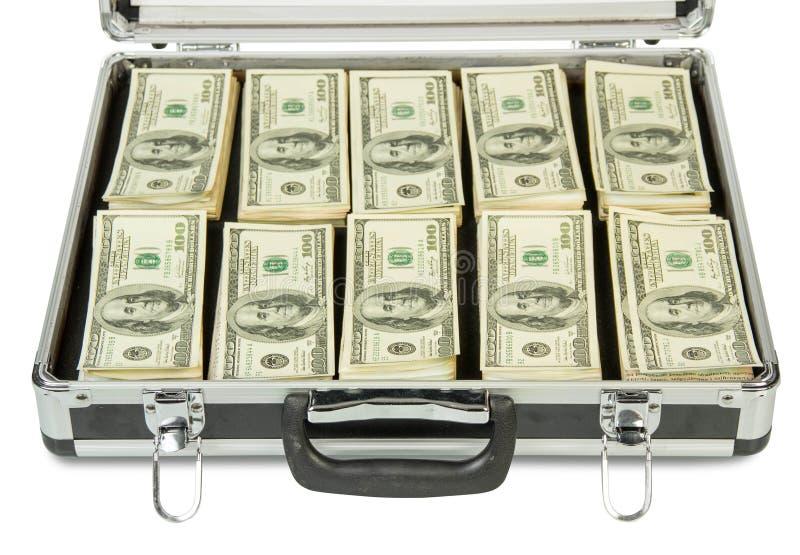 Download Zilveren geval met geld stock foto. Afbeelding bestaande uit document - 54081266