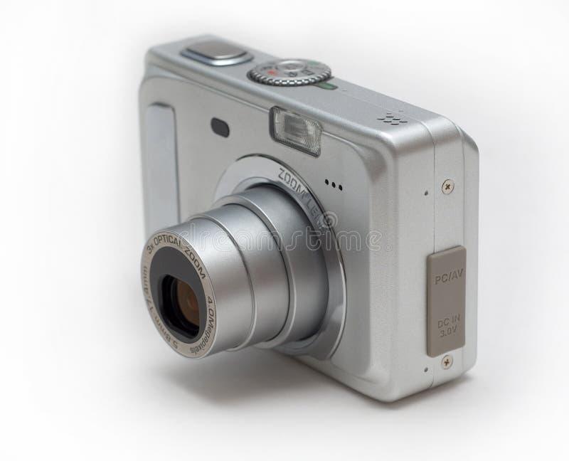 Zilveren gezoemcamera royalty-vrije stock foto's