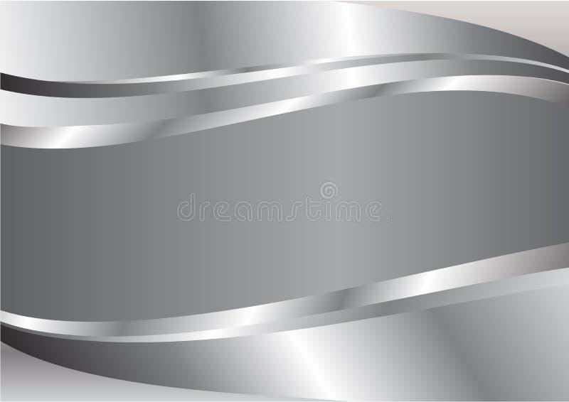 Zilveren golf abstracte vectorachtergrond royalty-vrije illustratie