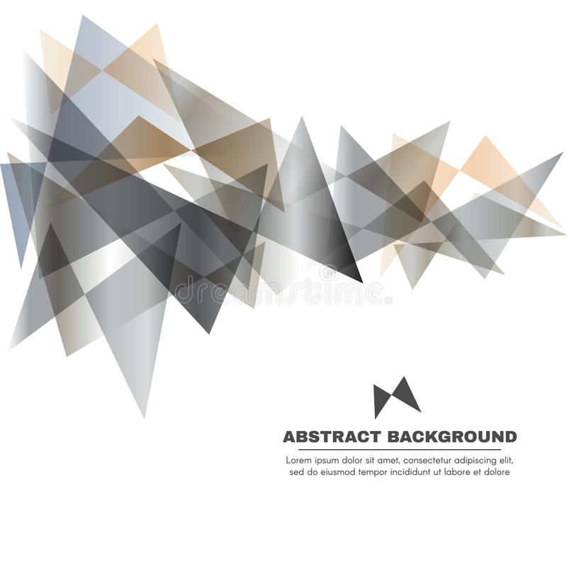 Zilveren grijs en goldtone - de vector abstracte achtergrond van de Vlinderdriehoek stock illustratie