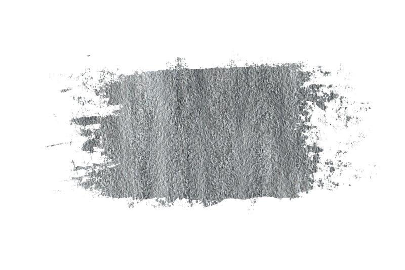 Zilveren grungy kwaststreek stock illustratie