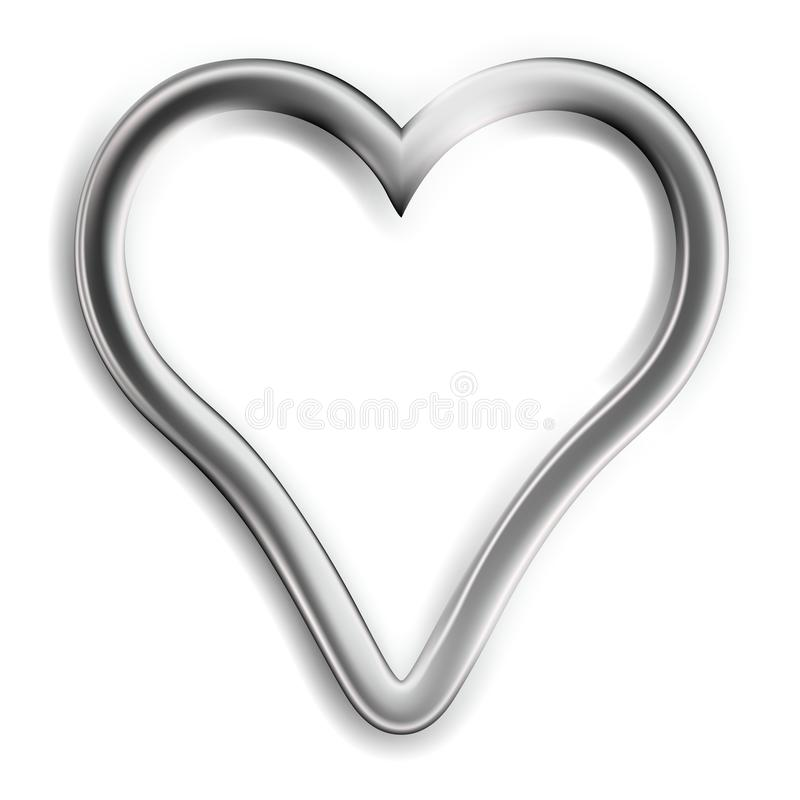 Zilveren Hart vector illustratie