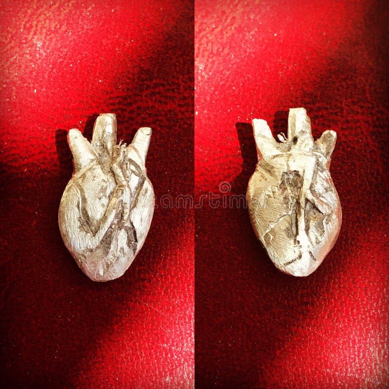 Zilveren hart royalty-vrije stock afbeelding