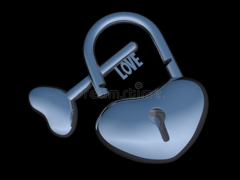 Zilveren heartlock royalty-vrije stock foto