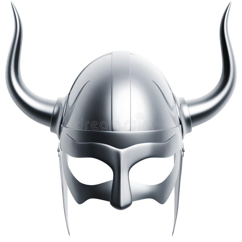 Zilveren helm stock illustratie
