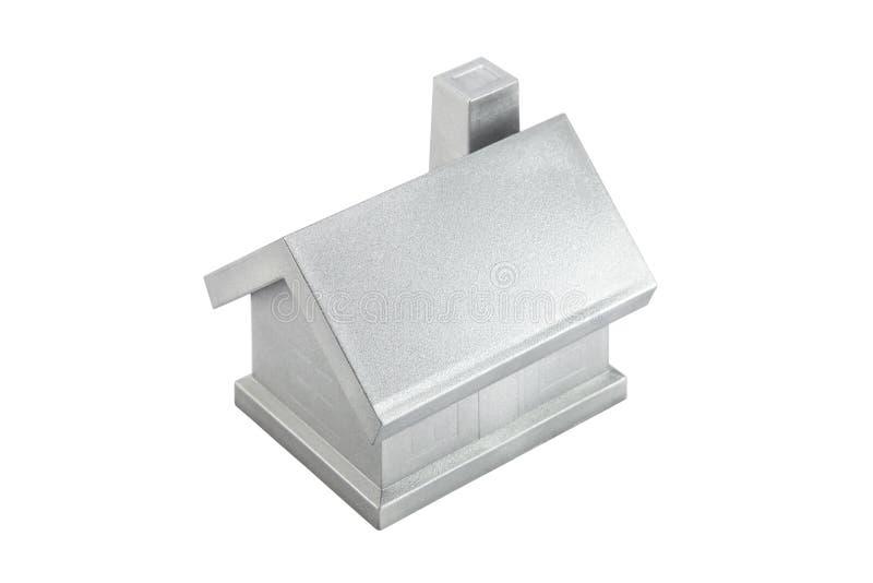Zilveren huis stock fotografie