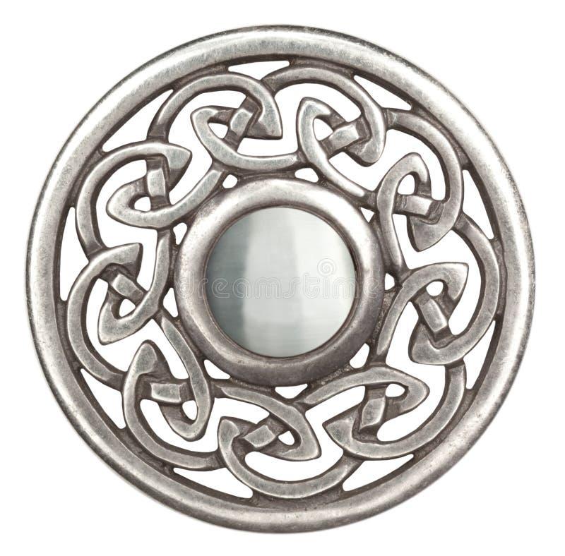 Zilveren Keltische broche stock fotografie