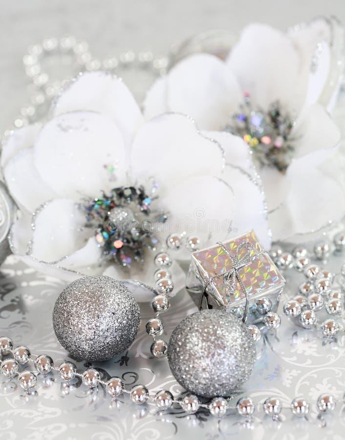 Zilveren Kerstmis royalty-vrije stock afbeeldingen