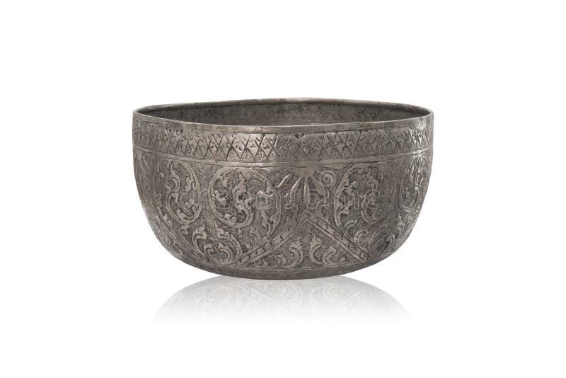 Zilveren kom royalty-vrije stock fotografie