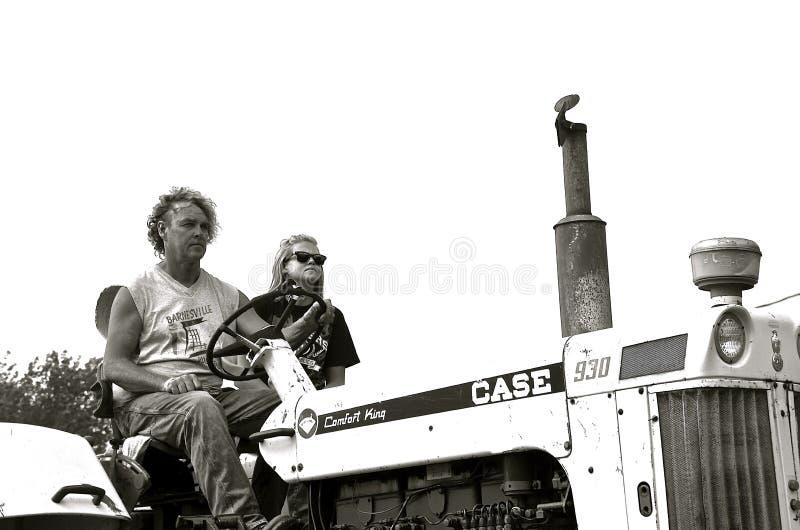 Zilveren Koning Case Tractor 930 stock fotografie