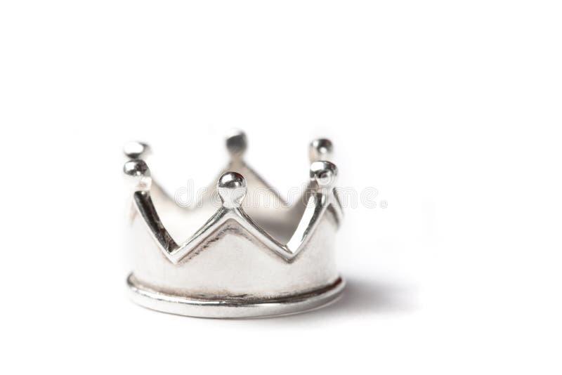 Zilveren kroon royalty-vrije stock afbeeldingen