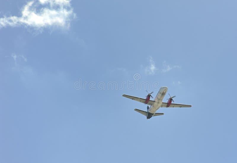 Zilveren Luchtroutes commerical vlucht van Florida royalty-vrije stock fotografie