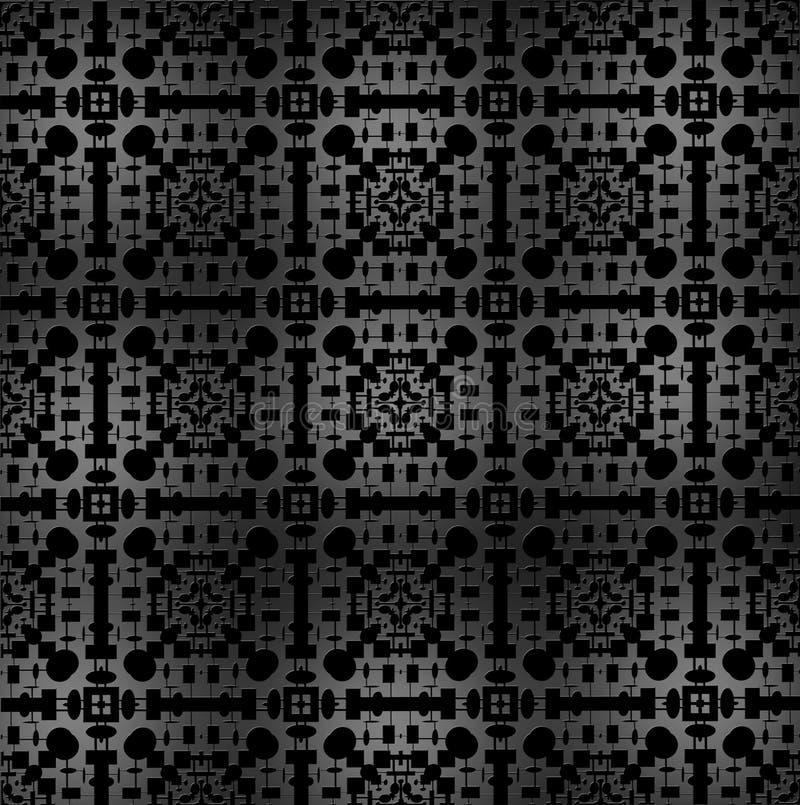 Zilveren materiële abstracte wijnoogst. vector illustratie