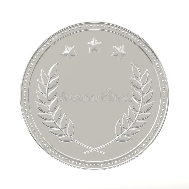 Zilveren medaille royalty-vrije illustratie