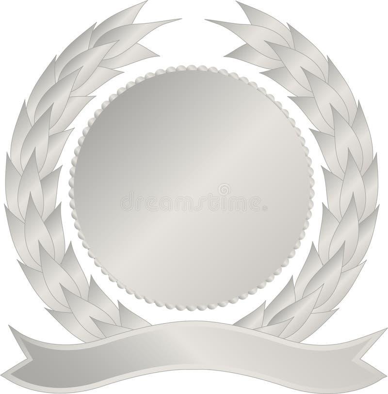 Zilveren medaillon stock illustratie