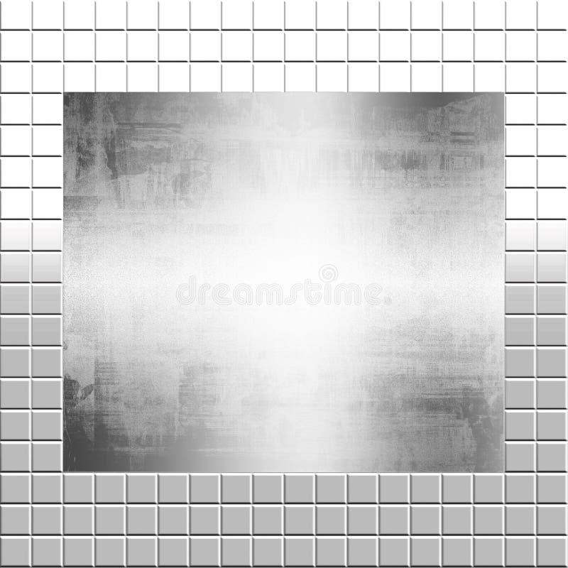 Zilveren Metaal op Tegels stock illustratie