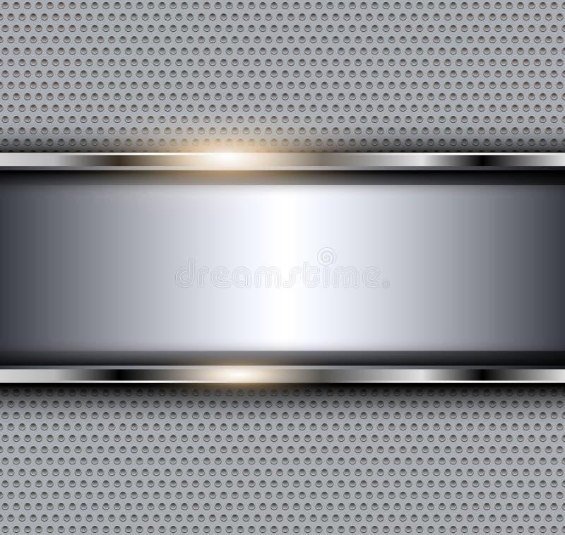 Zilveren metaalachtergrond royalty-vrije stock afbeelding