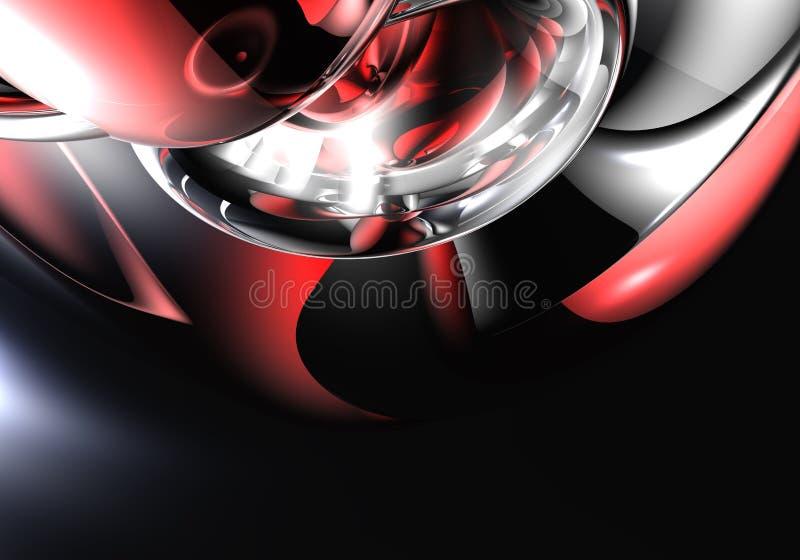 Zilveren metall in rood licht 01 vector illustratie