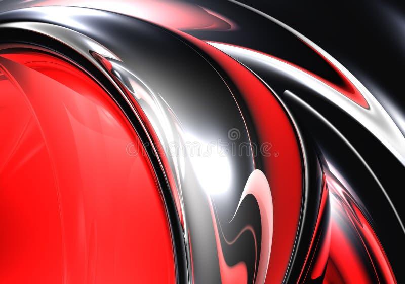 Zilveren metall in rood licht 02 royalty-vrije illustratie