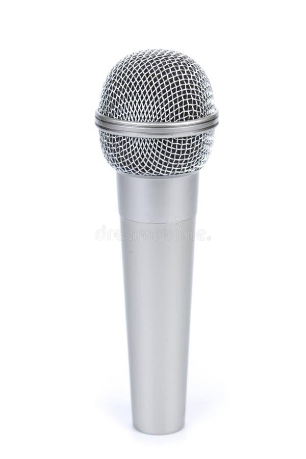 Zilveren microfoon royalty-vrije stock afbeelding