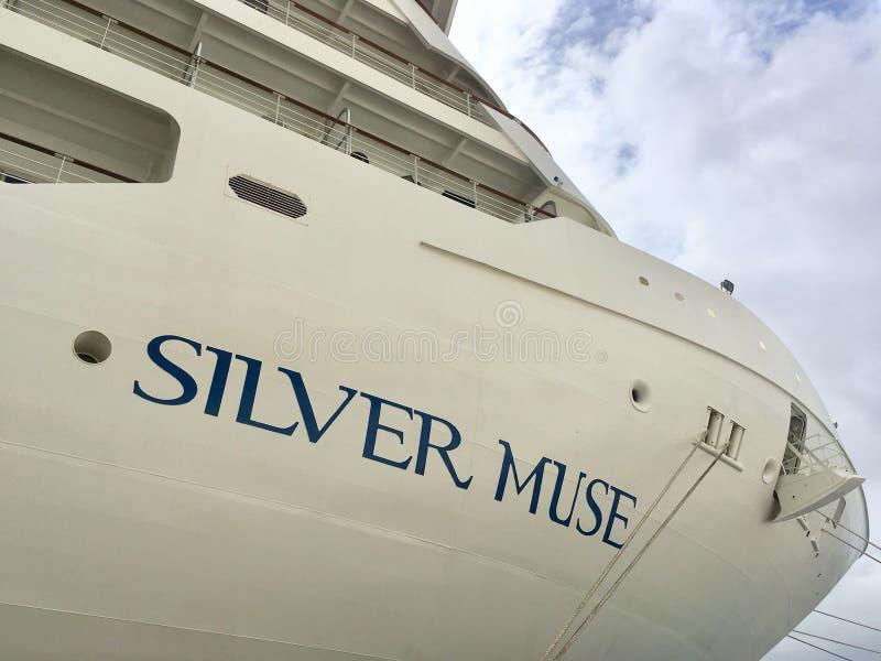 Zilveren Muse, Silversea-cruiselijn royalty-vrije stock foto