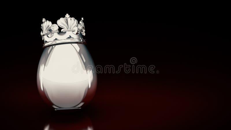 Zilveren Paasei royalty-vrije illustratie