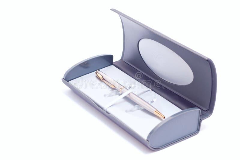 Zilveren pen royalty-vrije stock foto's