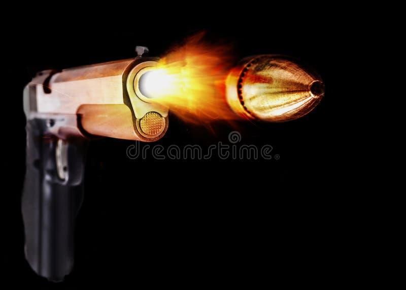 Zilveren Pistoolbrand stock foto's