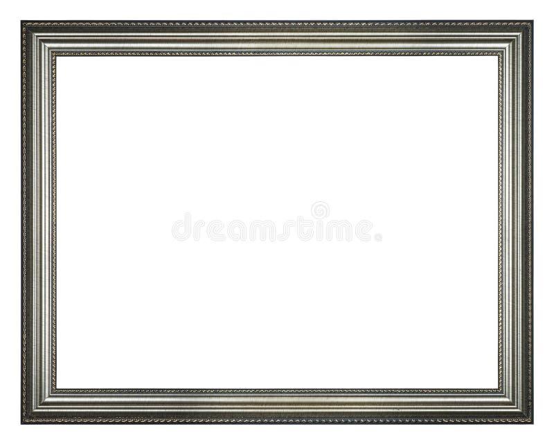 Zilveren rechthoekkader royalty-vrije stock foto