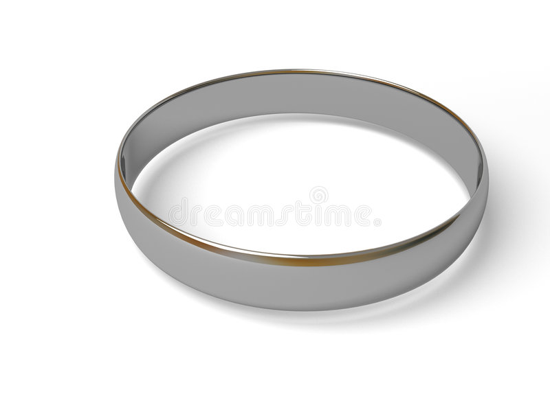 Zilveren ring. royalty-vrije illustratie