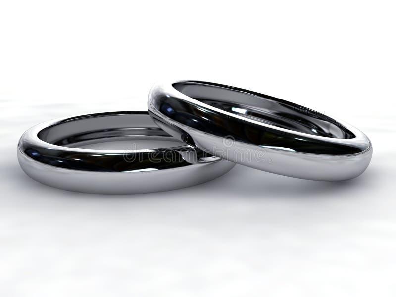 Zilveren ringen royalty-vrije illustratie
