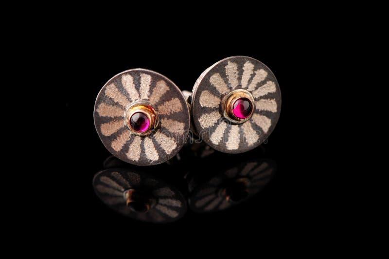 Zilveren robijnrode ogen stock afbeeldingen