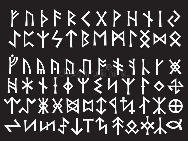 Zilveren Runen- Manuscript vector illustratie
