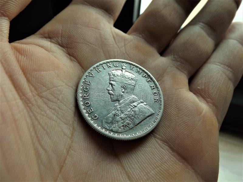 1 zilveren ruppee van India royalty-vrije stock afbeelding