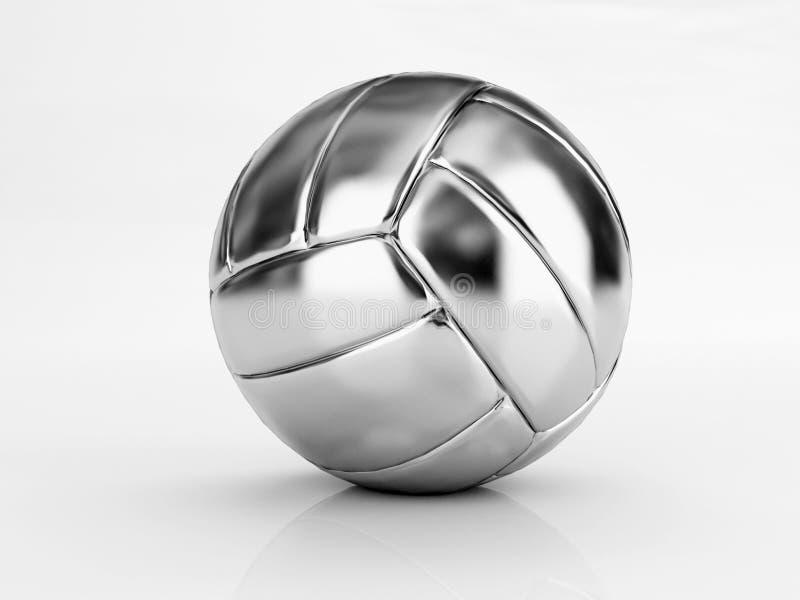 Zilveren salvobal royalty-vrije stock foto