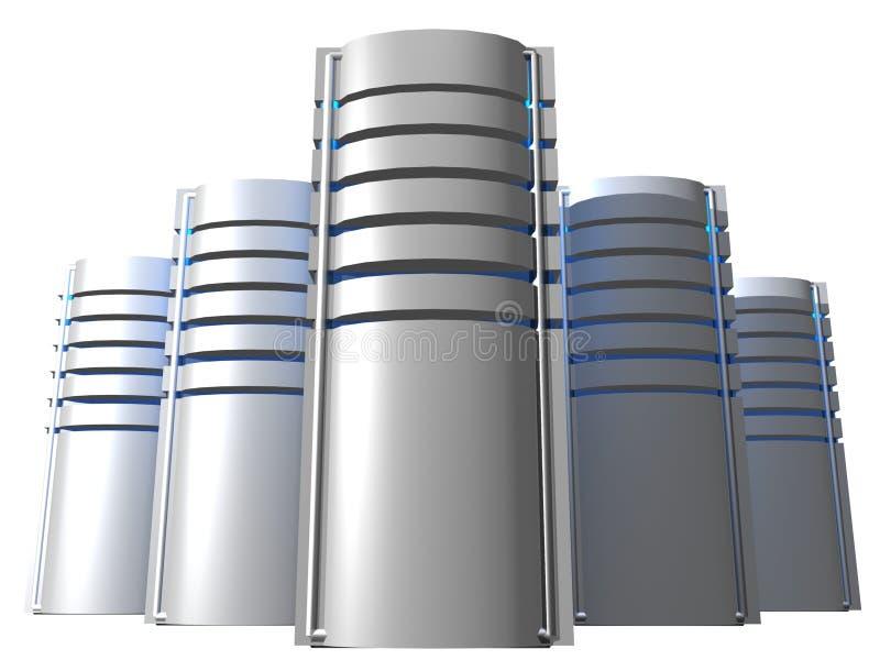 Zilveren servers vector illustratie
