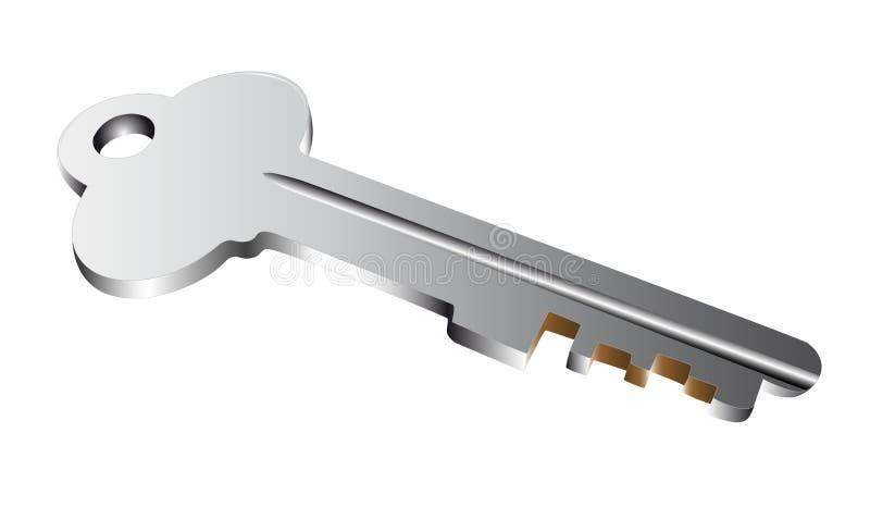 Zilveren Sleutel Royalty-vrije Stock Afbeelding